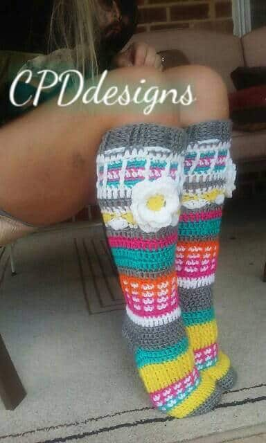 Crochet Pattern for Boot Socks | Cold Weather Hacks and More
