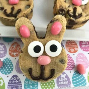Chocolate Chip Easter Bunny Cookies