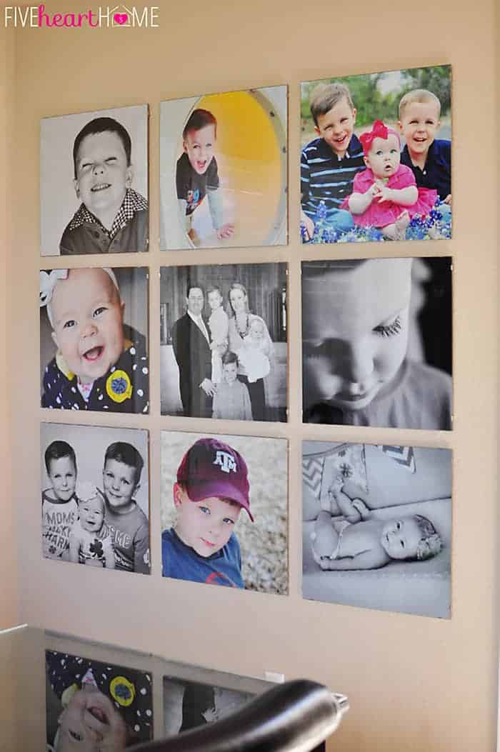 Family Photo Wall by Five Heart Home | The best ideas for Gallery Walls on Pinterest!