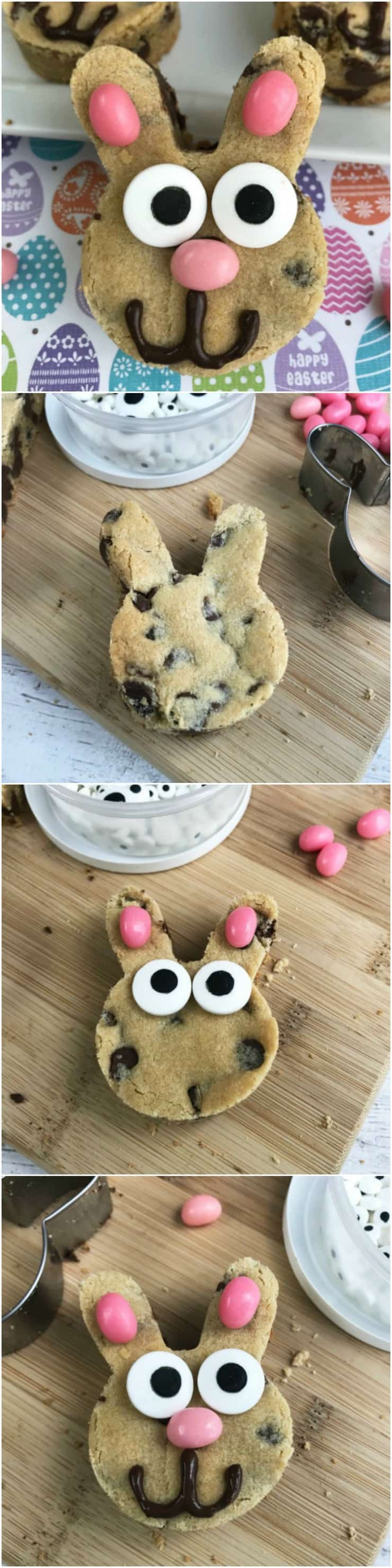 How to Make Chocolate Chip Easter Bunny Cookies