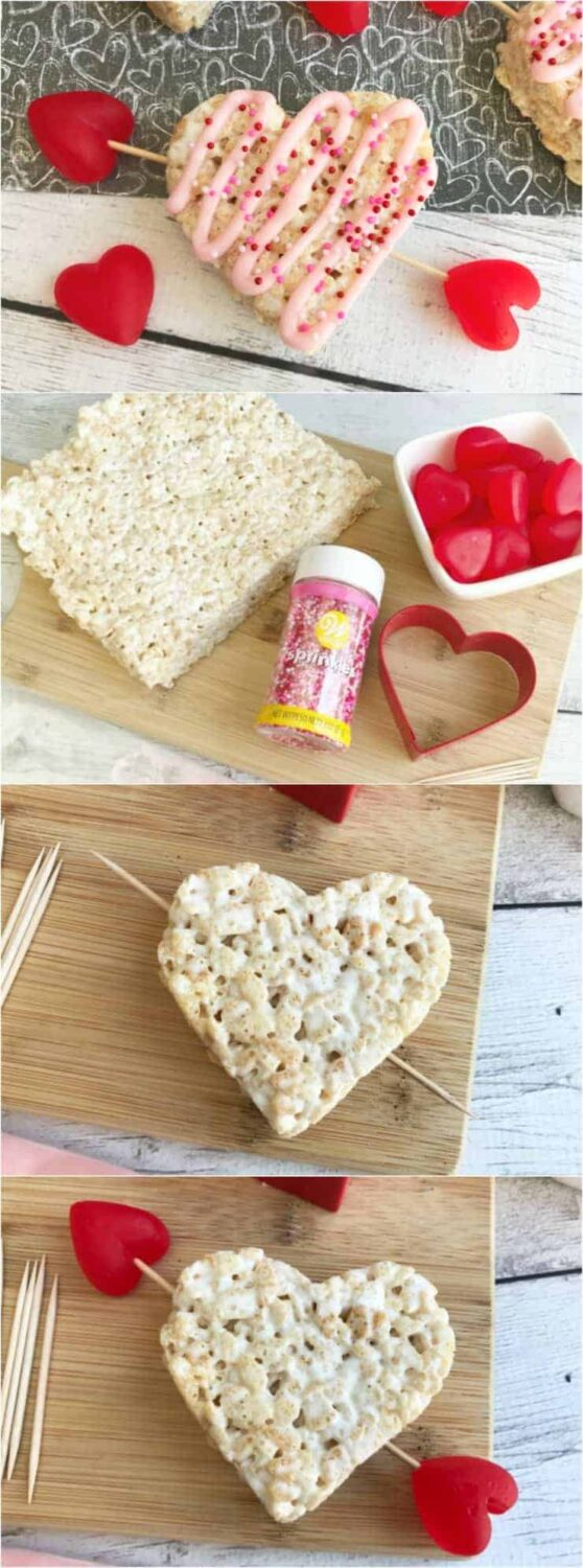 How to make Valentine's Rice Krispie Treat Hearts