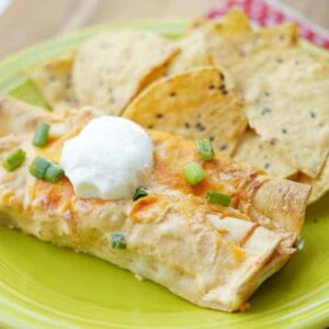 Instant Pot Buffalo Chicken Enchilada Recipe!