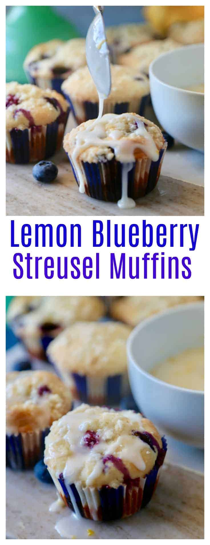 Lemon Blueberry Streusel Muffins