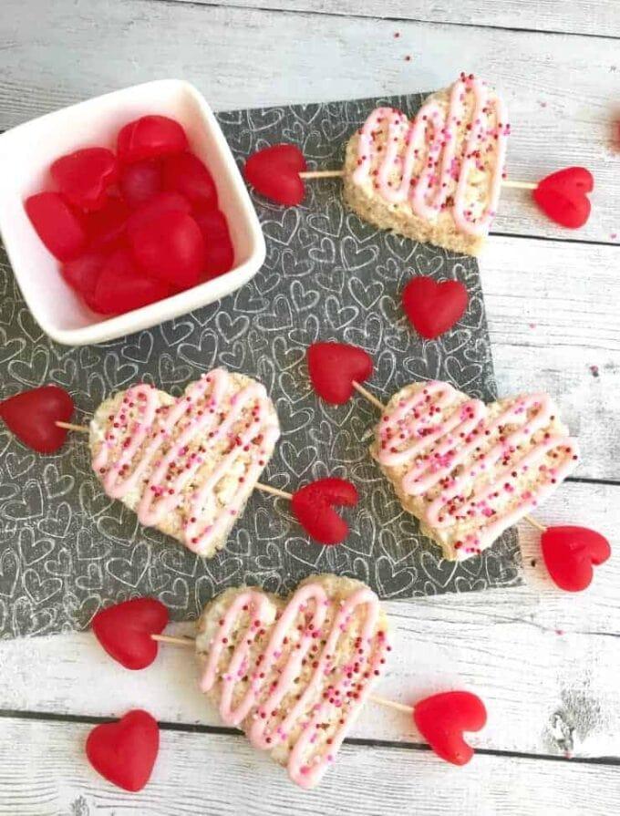 Valentine's Rice Krispie Hearts