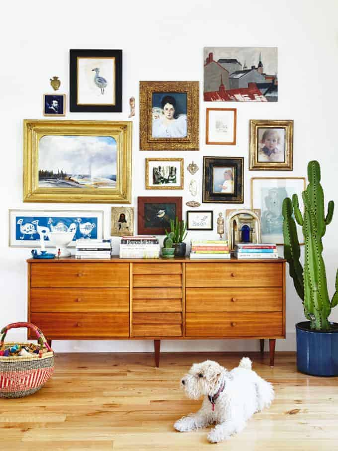 eclectic Gallery Wall by Cup of Jo | Gallery Wall Inspiration and More!