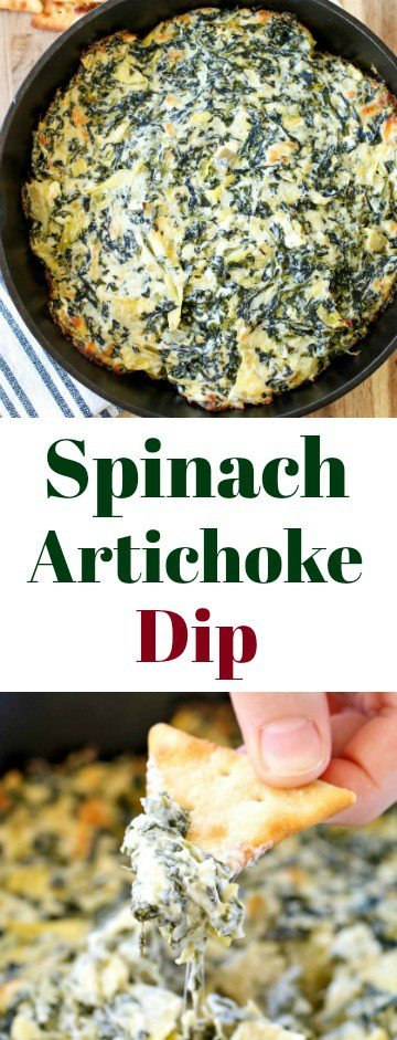 A perfect crowd-pleasing appetizer: Baked Spinach Artichoke Dip