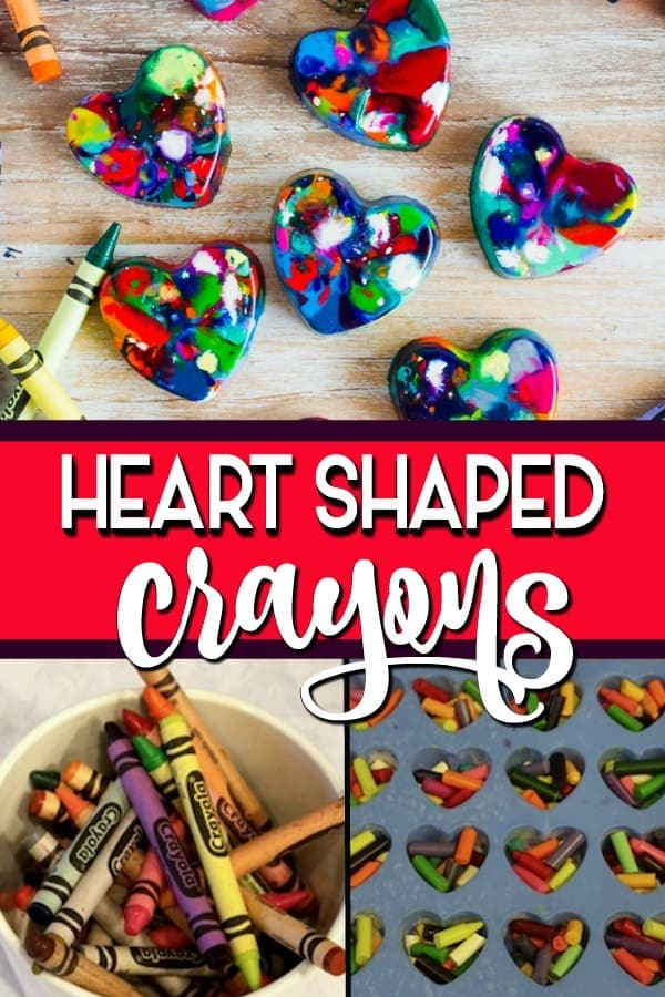 heart shaped crayons pin
