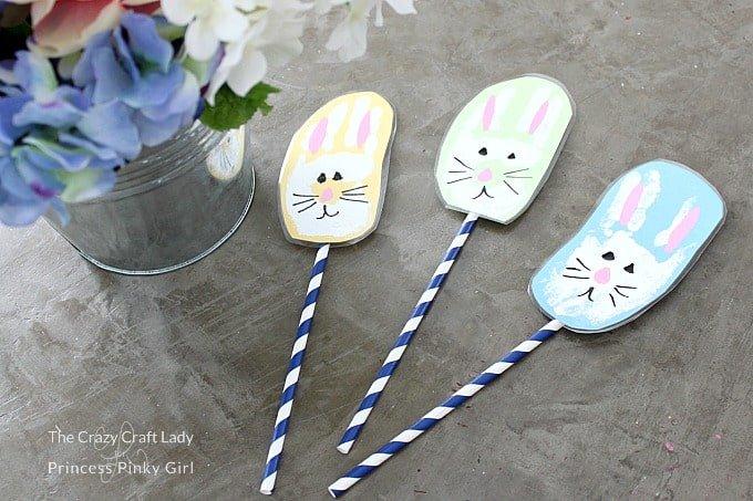 Spring Kids Activity - Fun Bunny Handprint Craft