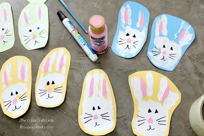 Easter Bunny Craft - let the paint dry and decorate
