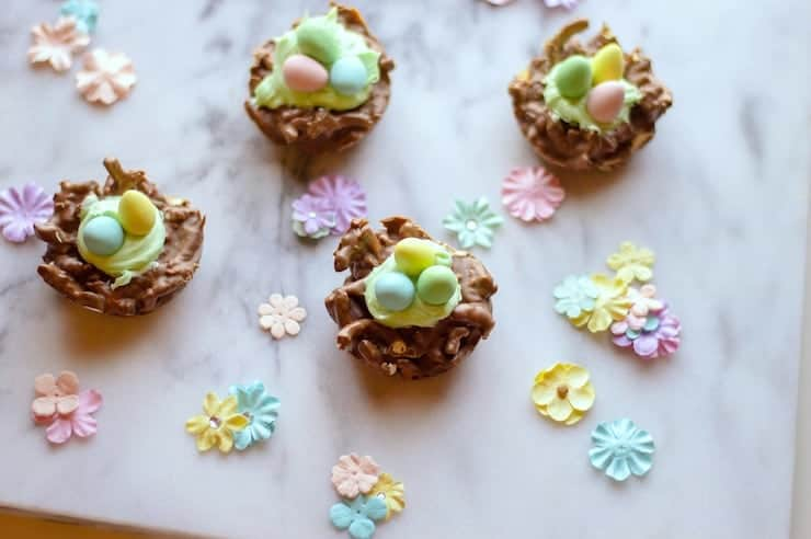 Chocolate Easter Nests multiple