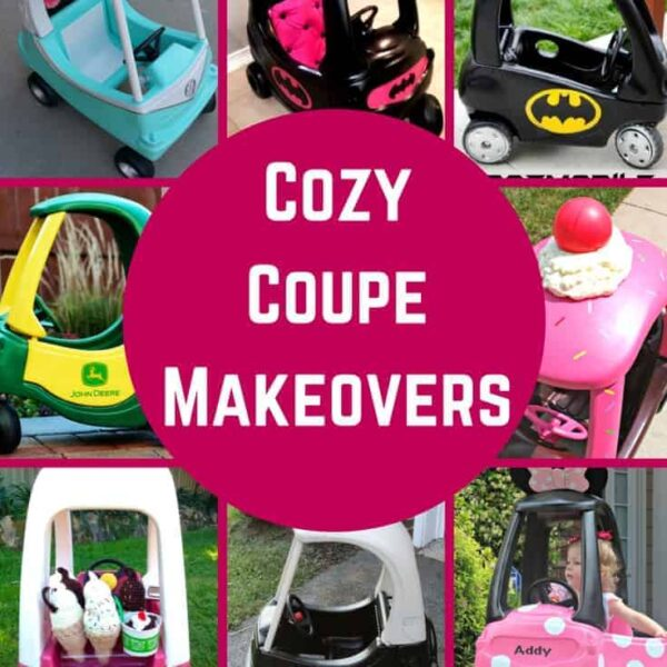 So many great ideas for cozy coupe makeovers!