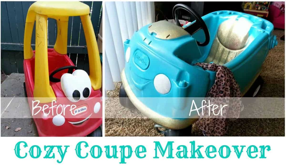 Cozy Coupe Makeover by Little Bits of Sunshine