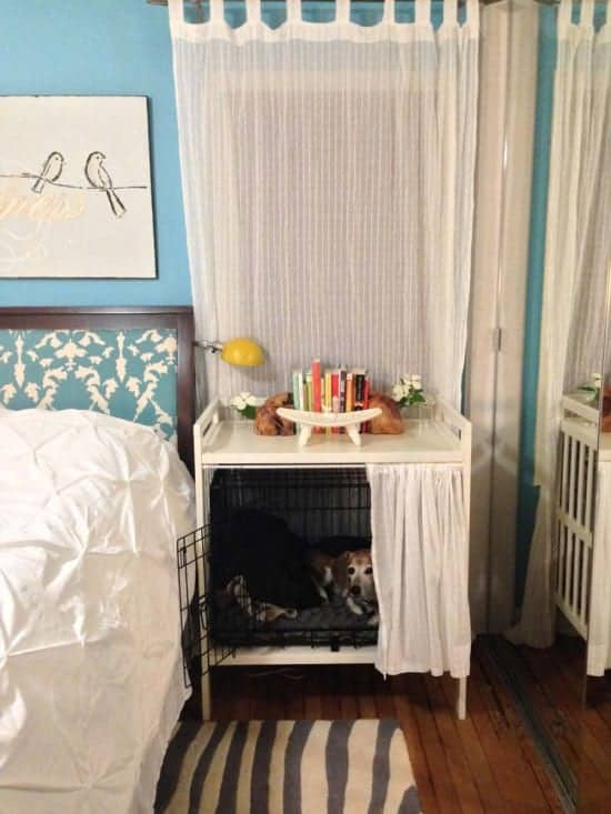 Dog Crate into a Bedside Table by Ikea Hackers