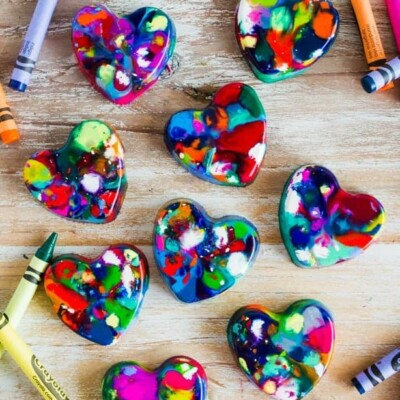 Homemade Valentine's Day gift – DIY Heart Crayons