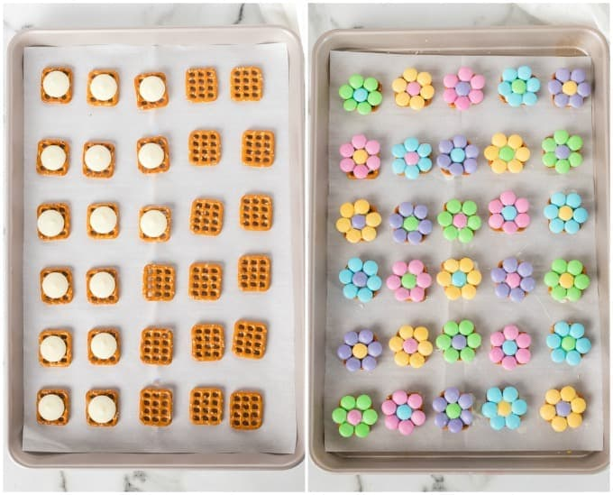 How to make Spring Flower Pretzel Bites