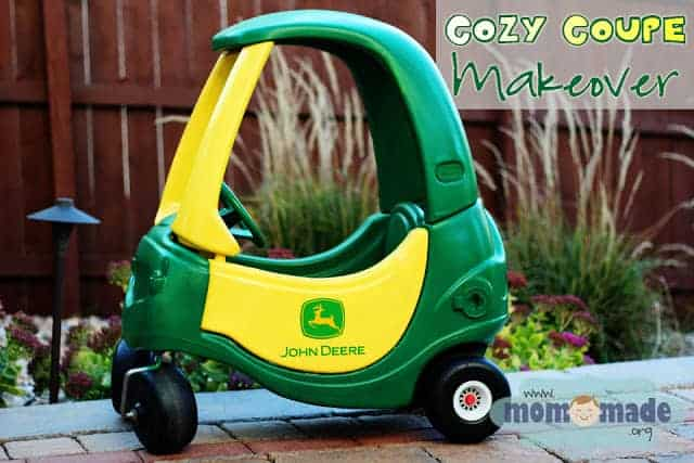 John Deere Cozy Coupe Makeover by Mom Made | Adorable Ideas for Revamping Little Tykes Cozy Coupes