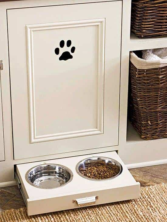 Kitchen Storage for Dogs by BHG | Dog Hacks that are so smart!