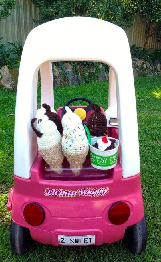 Lil' Miss Whippy Cozy Coupe Makeover by Giggleberry Creations | The cutest EVER cozy coupe makeovers