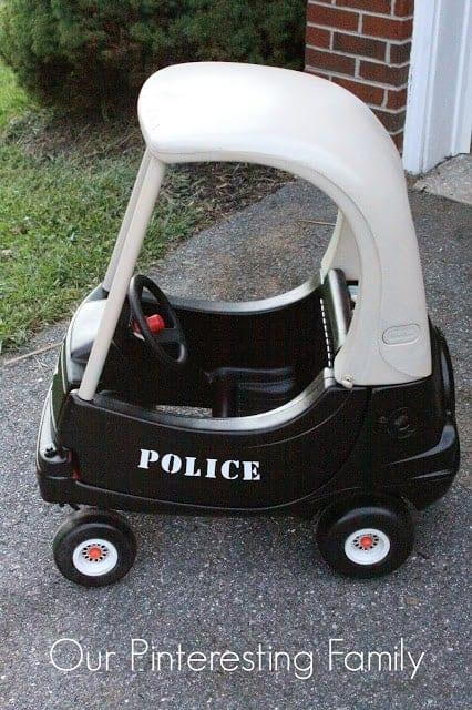 Little Tikes Coupe Redo Police Car | Little Tikes Coupe Redo Ideas