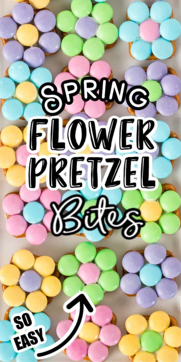 Spring Flower Pretzel Bites