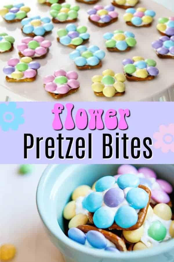 Spring Flower Pretzel Bites - sweet and salty treat