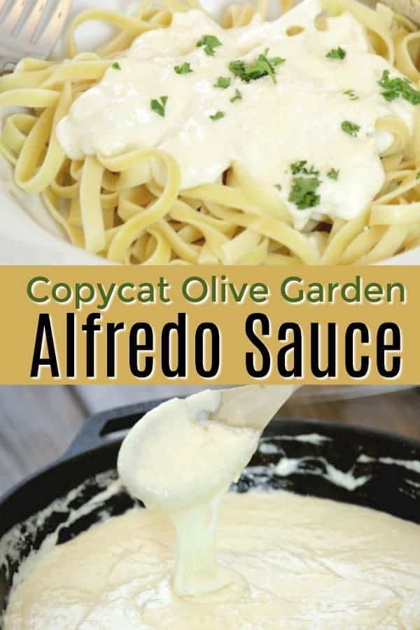 The best Copycat Olive Garden Alfredo Sauce - even better with chicken