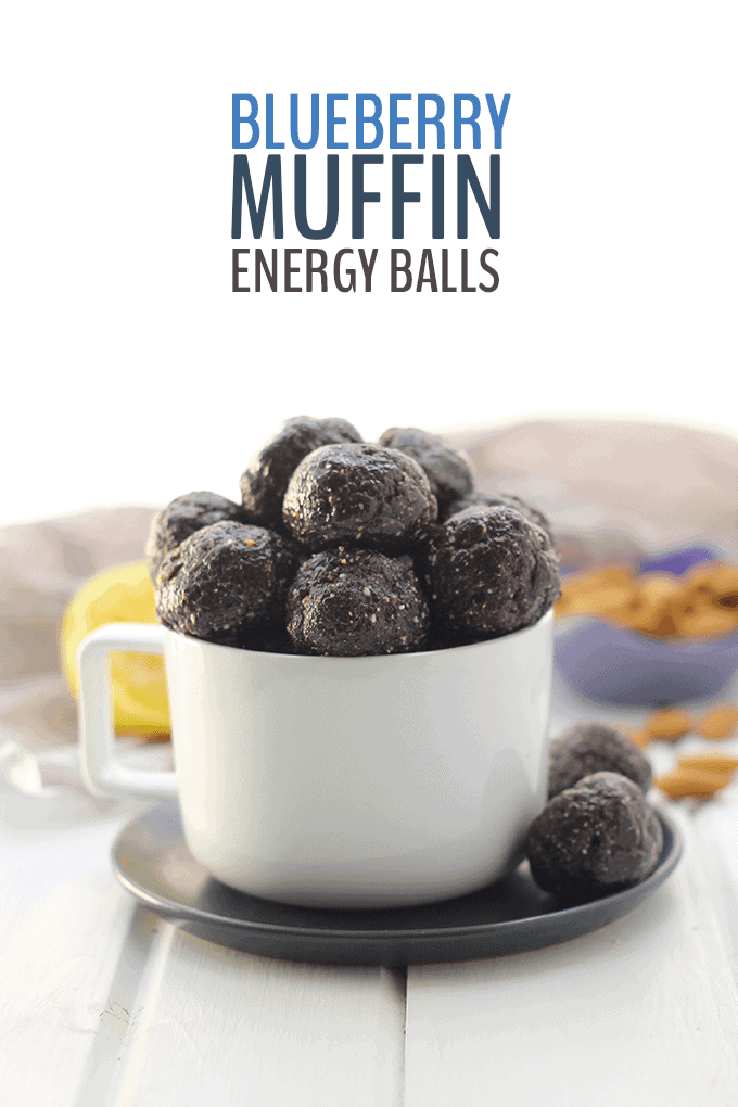 Blueberry Muffin Energy Bites by The Healthy Maven | The Ultimate Collection of Energy Ball Recipes
