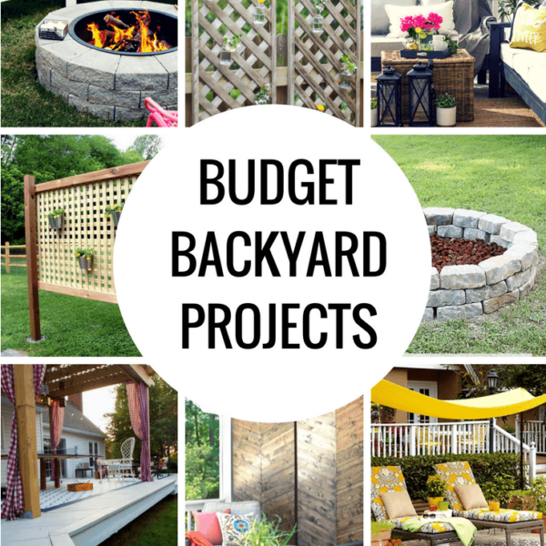 Budget Backyard Ideas that you can do in a weekend!