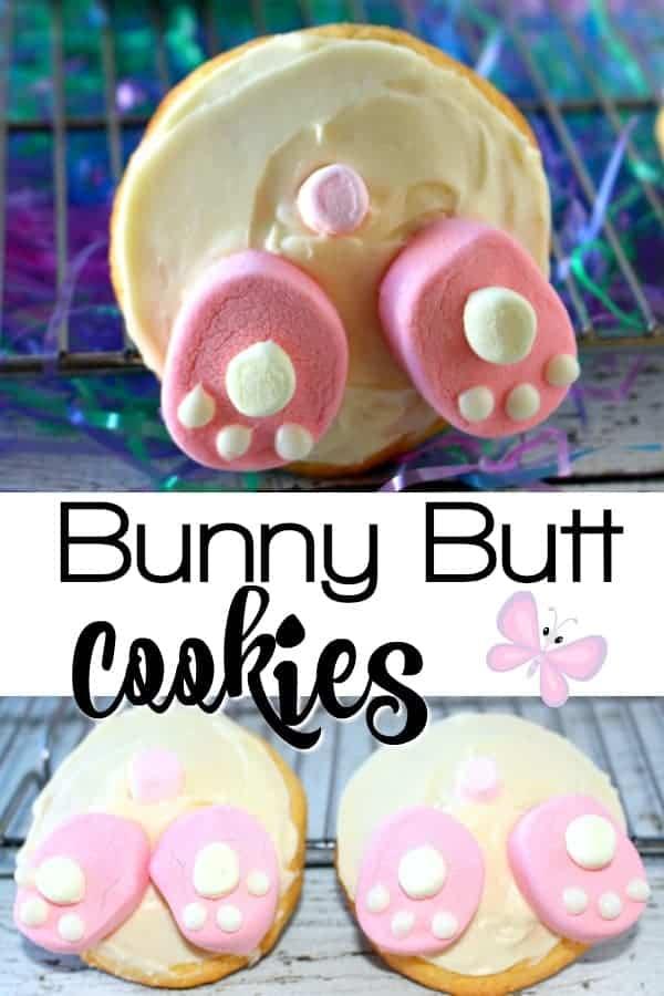 Bunny Butt Cookies - Easter Dessert