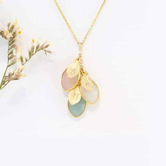 Custom Birthstone Necklace | Fabulous Ideas for Mother's Day Gifts