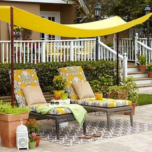 DIY Simple Backyard Shade by All You | DIY Budget Backyard Ideas you can do in a weekend!