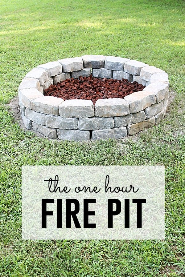 Diy Firepit by The Shabby Creek Cottage | Budget Backyard Ideas that You can make this weekend!