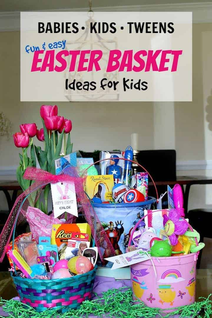 Easter Basket ideas for babies kids and tweens