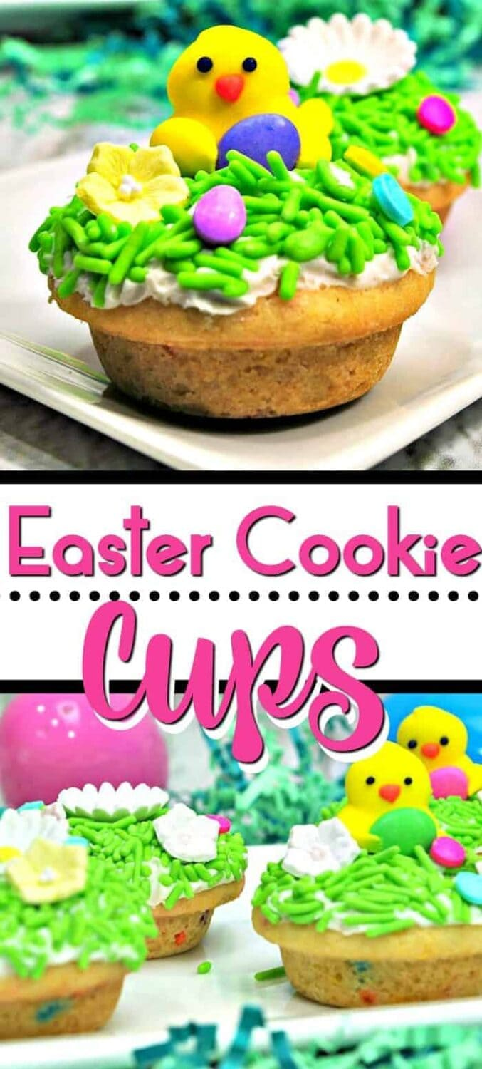Spring Easter Cookie Cups