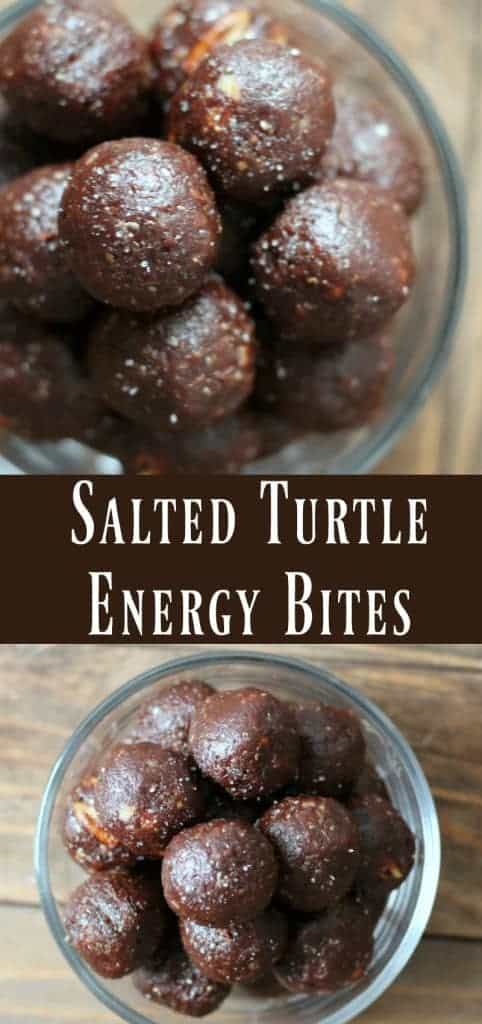 Healthy Salted Turtle Energy Bites by Organize Yourself Skinny | The Ultimate Collection of Energy Bite Recipes!
