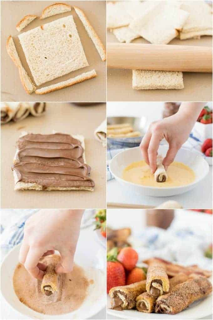 How to make Nutella French Toast Roll Ups