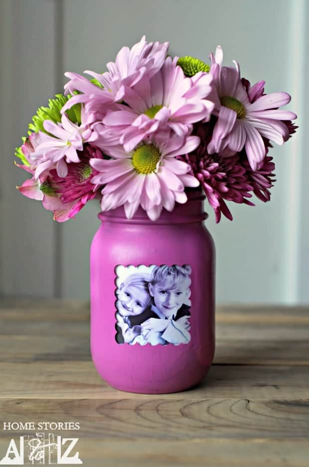 Mason Jar Mother's Day Vase from Home Stories A to Z | Fabulous Mother's Day Gift Ideas!