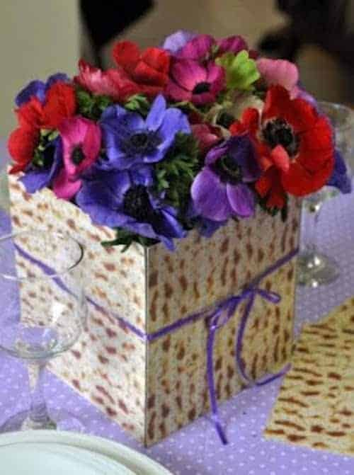 Matzo Vase for Passover Table Decoration