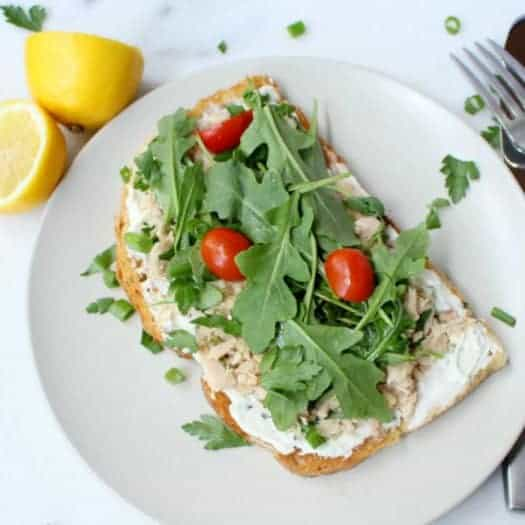 Open Faced Garden Tuna Sandwich via Shape | Tips, Tricks and Yummy Recipes for the DASH Diet Plan