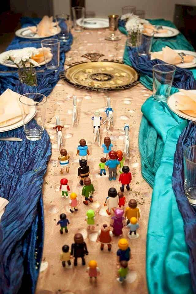 Parting of the Red Sea Passover Table Scape
