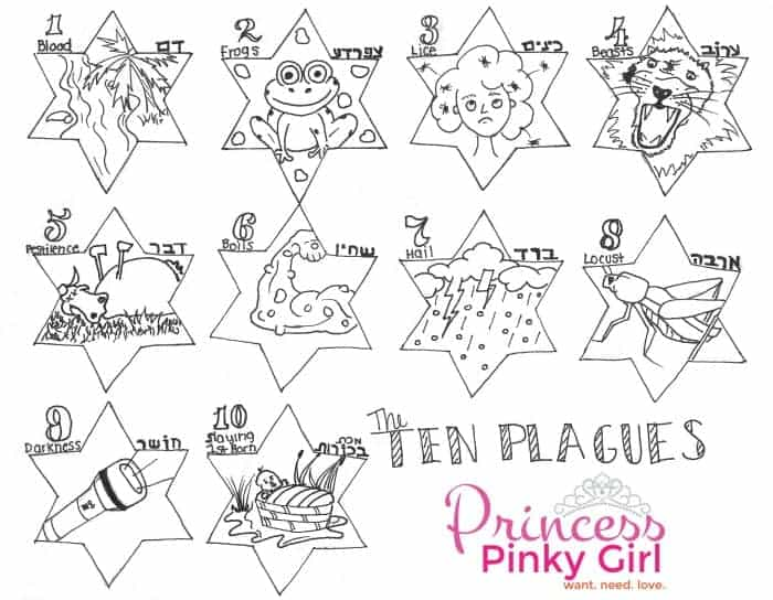 Passover Plagues free printable - Princess Pinky Girl