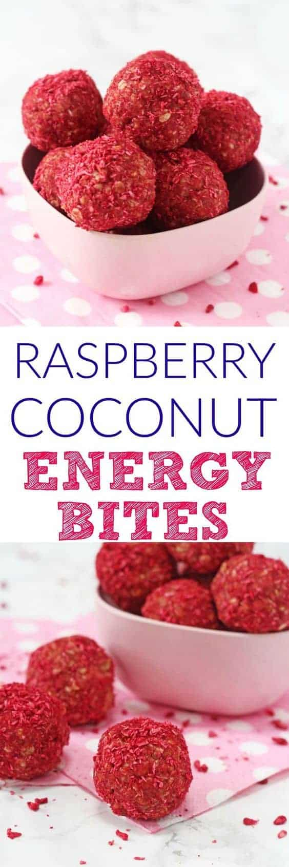 Raspberry and Coconut Energy Bites by My Fussy Eater | The Ultimate Collection of Energy Bites Recipes