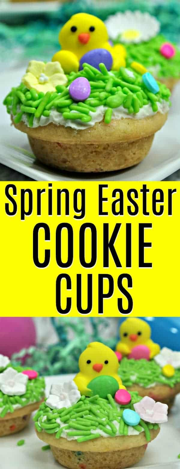 Easy to make Spring Easter Cookie Cups - the perfect Easter activity to do with the kids!