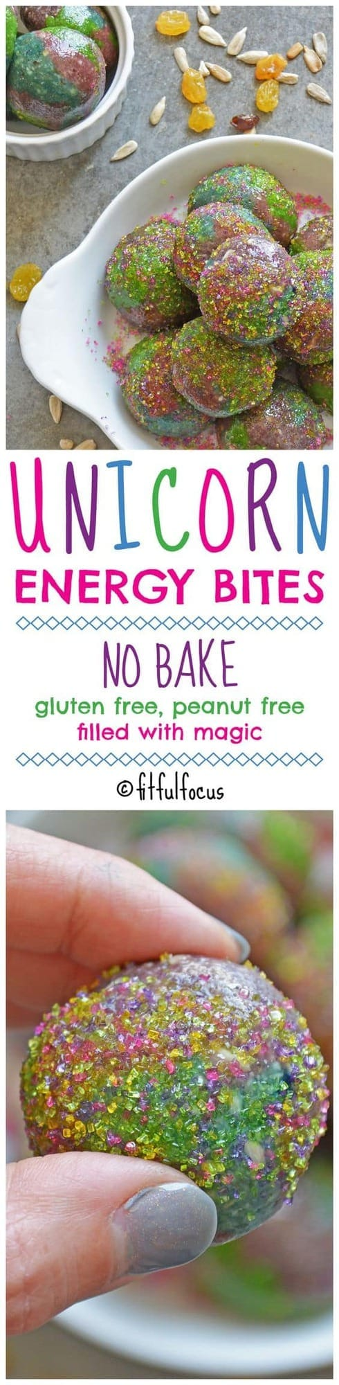 Unicorn Energy Bites by Fitful Focus | Energy ball recipes for the entire family!