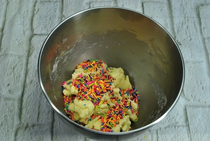Unicorn Whoopie ingredients in a bowl