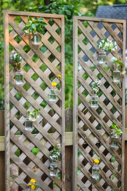 Vertical Living Wall Privacy Screen by Pretty Handy Girl | Budget Backyard Ideas you can do this weekend!