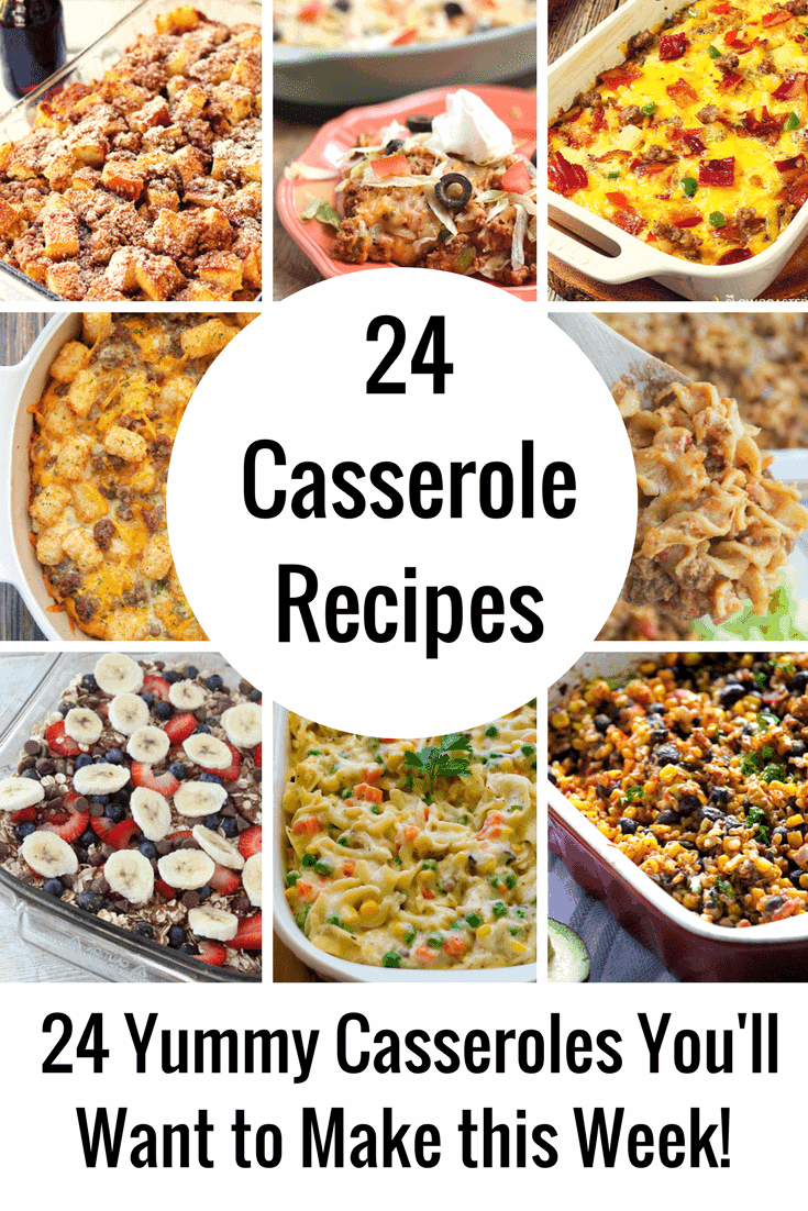 24 Casserole Recipes You'll Want to Make This Week - Casserole Recipes are always SO easy to make and SO comforting. The original one-pan meal, these family friendly dishes will make your weeknight dinners a piece of cake!
