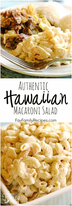 Authentic Hawaiian Macaroni Salad by Favorite Family Recipes | The best pasta salad recipes around!
