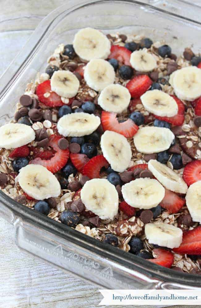 Baked Oatmeal Casserole from Love of Family and Home   Casseroles You'll Want to Make this Week!