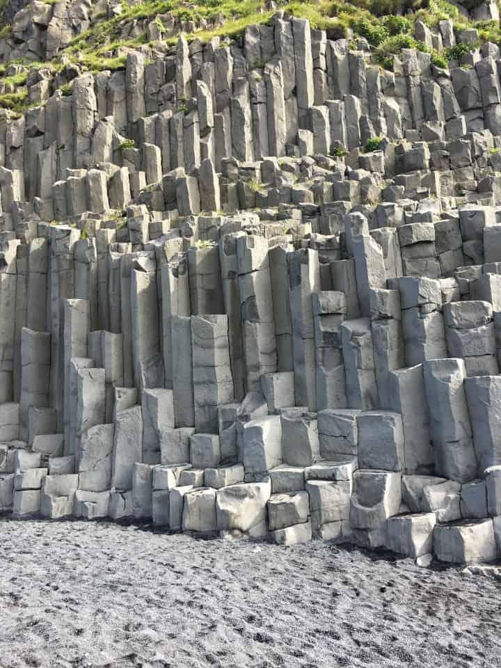 Basalt Columns at Reynisfjara Black Sand Beach Iceland